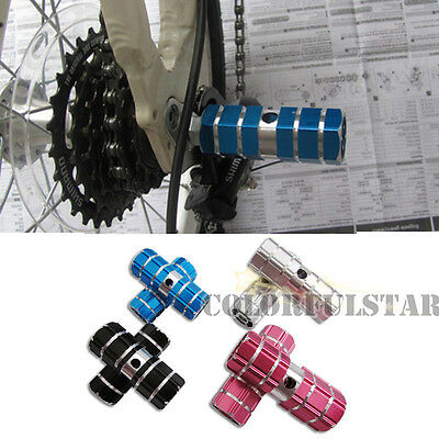 """MTB Bike Bicycle 3/8"""" Axle Cylinder Aluminum Alloy Foot Pegs Cone Holder Stand"""