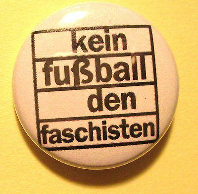Kein Fußball den Faschisten Button / Badge St. Pauli Sankt Pauli Punk Antifa Pin