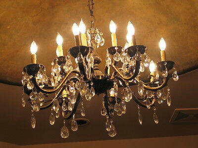 Czech Bohemian Crystal Chandelier Authentic w/sertificate French/Tuscan/Antique