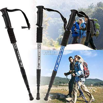 Carbon fiber 3-section Hiking Stick Antishock Alpenstock for Climbing/Walking BT