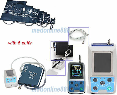 CONTEC Ambulatory Blood Pressure Monitor USB PC Software 24h NIBP Holter 6 cuffs