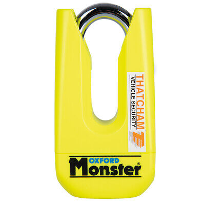 OXFORD Monster Yellow Disc Lock OF36M Ultra Strong Motorcycle Thatcham Padlock T