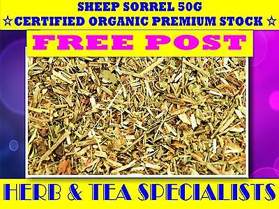 SHEEP SORREL 50G ☆ PREMIUM CERTIFIED ORGANIC STOCK ☆Rumex acetosella☆ FREE POST