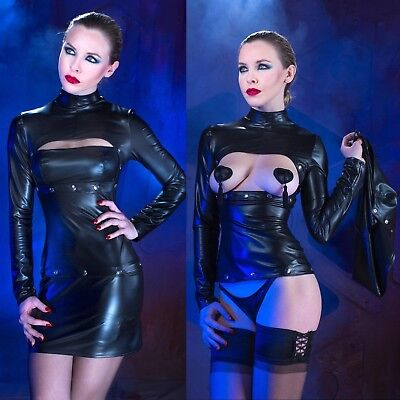 PATRICE CATANZARO Loretta Submission Dress Wetlook Kleid Leather GOTHIC CLUBWEAR