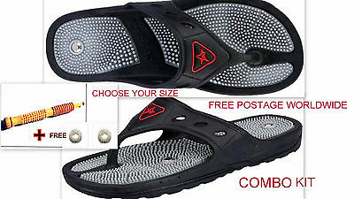 Acupressure/Acupunture Magnetic Therapy Footwear-Slippers-Rings Massager COMBO