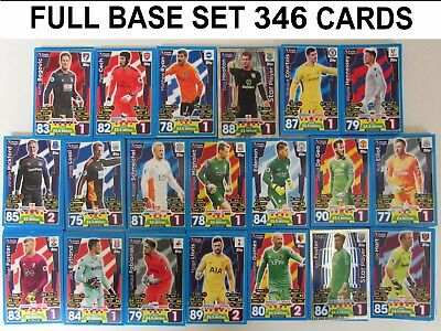 Full Base Set + Club Badges = 386 Cards Match Attax 16/17 2016/2017 Collection