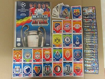 Match Attax EXTRA 2016/2017 16/17 Collector Binder + 100 Cards + LE1G Limited Ed