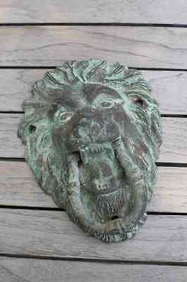 Vintage Cast Iron Lion Head Door Knocker