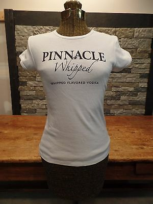 Pinnacle Vodka Whipped T Shirt Ladies Slim Fit White Size Small New