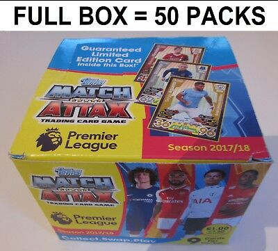 Match Attax 16/17 FULL BOX = 50 Packs 450 Cards 2016/2017 2016/17 NEW & UNOPENED