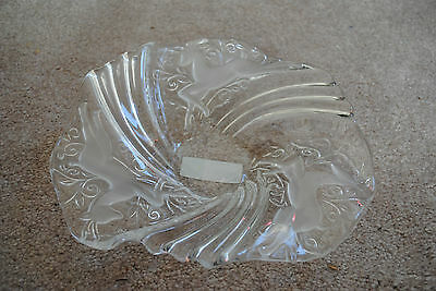 Mikasa S1802 Crystal Serving Tray Reindeer Bon Bon Plate NEW