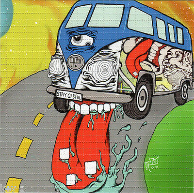 BROOKS BUS BLOTTER ART by Aaron Brooks psychedelic perforated LSD acid art kesey