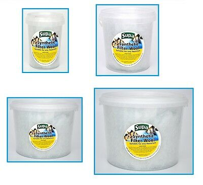 Aquarium Filter Wool Fish Tank Pond Filter Media Synthetic Wool Floss in 4 Sizes