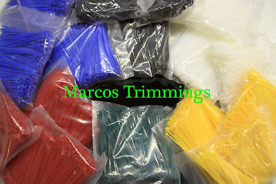 Strong Cable Ties Tie Wraps Zip Ties Various Colours 140mm x 3.6mm