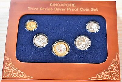 Singapore coin Third Series Silver Proof coins set