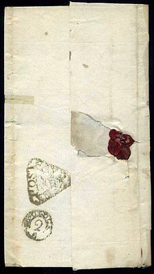 1782 TEMPLE OFFICE DOCKWRA 'PAYD PENY POST' Post on left type 3c