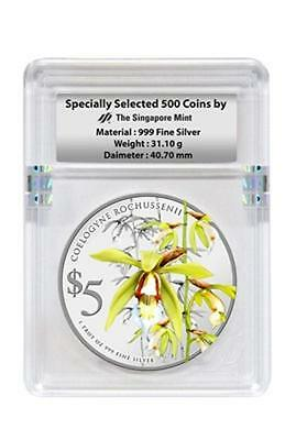 Aidollar Singapore 2014 Native Orchid $5 999 fine silver coin