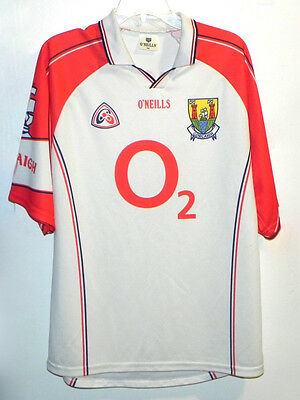 O'Neills Jersey White Shirt Corcaigh Gaelic Sports Size M