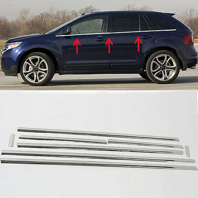 Stainless Steel Under Window Chrome Trim Sill Line Kit For Ford Edge 2007-2014