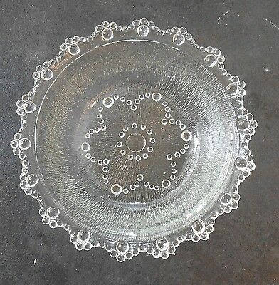 Fabulous Clear Glass Bowl Dish with flower center gorgeous must see