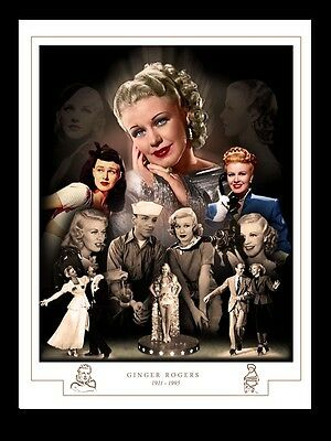 Ginger Rogers Montage Print 1911 - 1995