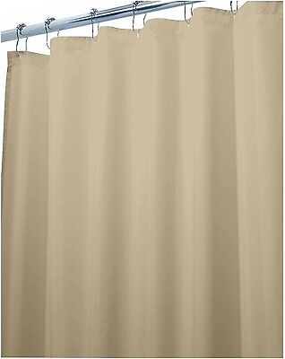 SPECIAL 2 x Solid Beige Shower Curtain 2.2m Long New Free Shipping