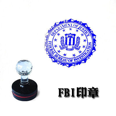 US FBI Department OF Justice Badge Stamp Photosensitive Seal