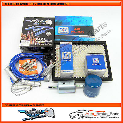 Major Service Kit for Holden Commodore V6 3.8Ltr VT, VX, VU, VY with Heatshields