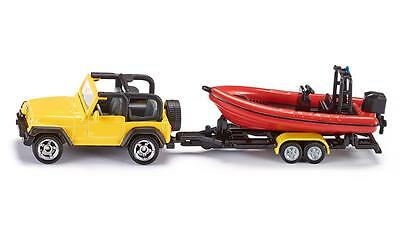 NEW Siku Jeep Wrangler with Boat and Trailer Die Cast Toy Car 1658