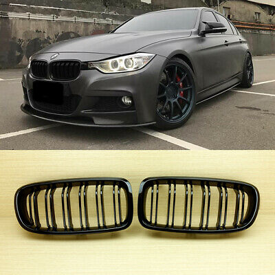 Glossy Black BMW F30 F31 M3 Style Front Grille Grill 328i 335i 316d 318d 320d
