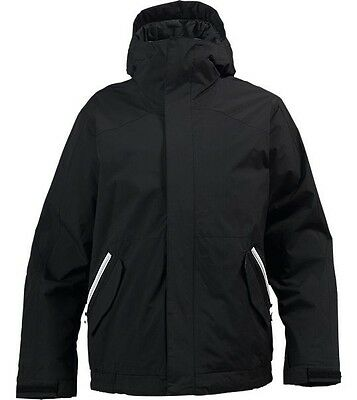 Burton The White Collection SUCH A DEAL Riders Jacket -True Black - Mens Small