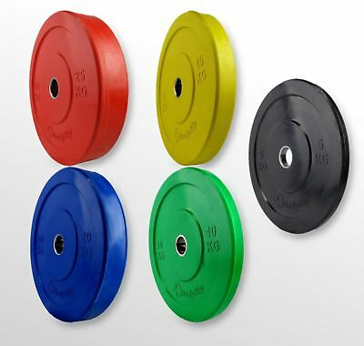 Olympic Bumper Weight Plates One Size Colour Coded Crossfit Training Fitness Gym