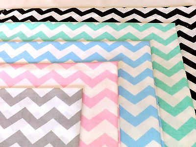 BEST QUALITY, CHEVRON ZIG ZAG FABRIC 100% COTTON, ELEPHANT, STARS, CLOUDS, 160cm