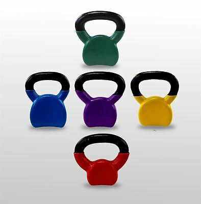 Light Weighted Vinyl Kettlebells Home Gym Training Fitness Tone Exercise