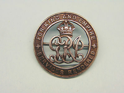 W. W. 1 WOUND BADGE TO A SOUTH AFRICAN.