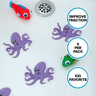 Octopus Tub Tattoos (5 Pack) in Purple by SlipX Solutions