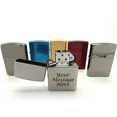 Personalised Engraved Genuine Zippo® Lighter Gift with Contrasting Engraving