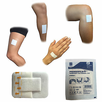Premier Sterile Invisible Adhesive Film Waterproof Wound Cut Dressing Plasters