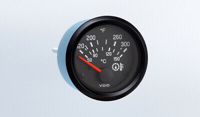 "Oil Temp gauge, 300F, VDO Genuine Cockpit 310-936, 2-1/16""/52mm, w/wire harness"