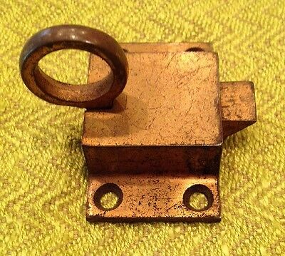 Vintage  Jelly Cabinet Latch Kitchen Cupboard Lock Catch Thumb Pull Knob