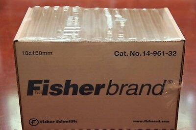 Fisherbrand Glass Test Tubes Tube 18x150mm 500/case new