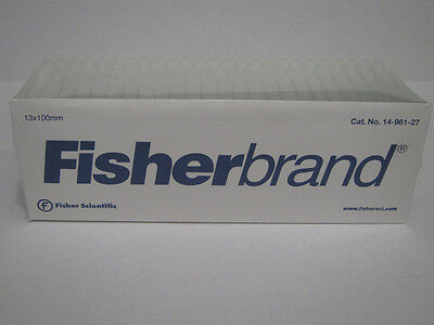 Fisherbrand Disposable Glass Test Tube Tubes 13 x 100mm 1000 / case  NEW