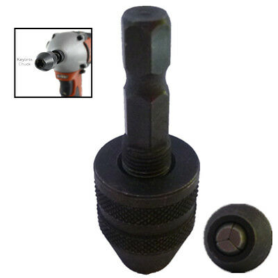 1/4 Mini Snap In Hex Shank Keyless Electric Drill Chuck Conversion Clamp 0.3-3mm