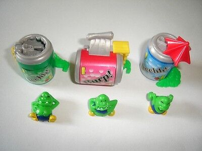 Kinder Surprise Set - Monsters With Cans Houses - Figures Toys Collectibles