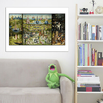 Garden of Earthly Delights Hieronymus Bosch Vintage Wall Art Poster Print
