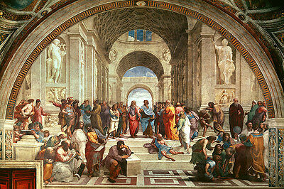 The School of Athens Raphael Vintage Print