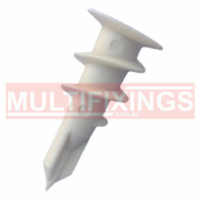 100pcs - 14mm x 32mm NYLON HOLLOW WALL ANCHOR PLASTERBOARD FIXINGS