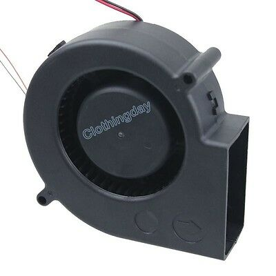 97mm x 33mm Big Airflow 12V Brushless Cooling Blower Turbo Centrifugal Fan 9733S