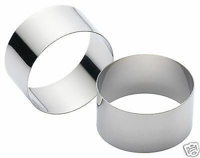 Kitchen Craft Stainless Steel Rosti Cooking Rings PK2 7cm or 9cm Standard / Deep