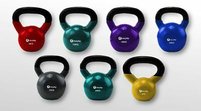 Cast Iron Kettlebell Weights Kettle Bell Workout Fitness Home Gym Exercise